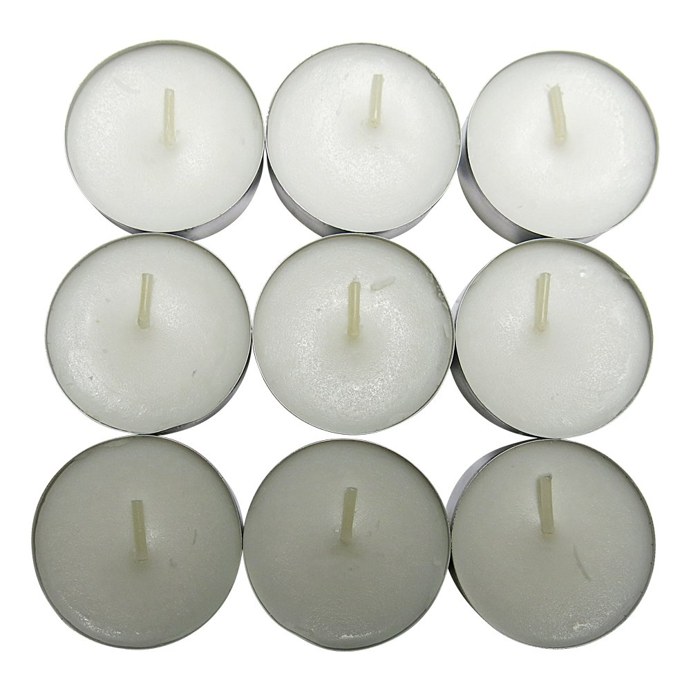 CandleNScent Unscented Tealight Candles, 3.75 Hour, White