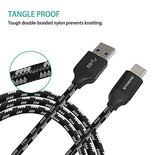 USB Type C Cable, Nekteck Nylon Braided USB-C to USB Type A Male Data &  Charging Cord 56k ohm resistor 6 6ft for for Macbook 12 Inch, Galaxy S8/ S8