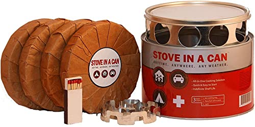 Stove In A Can – Portable Outdoor Camp Cooking Kit – Perfect for Camping, Backpacking, Hunting, Tailgating, Emergency Survival, Food Storage