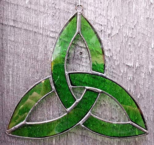 Stained Glass Trinity Knot - Stained Glass Celtic Trinity Knot Sun Catcher