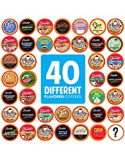 Two Rivers Coffee Flavoured Coffee Pods Variety Pack Single-Cup, Compatible with Keurig 2.0 K-Cup Brewers, 40 Count
