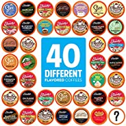 Two Rivers Coffee Flavoured Coffee Pods Variety Pack Single-Cup, Compatible with Keurig 2.0 K-Cup Brewers, 40