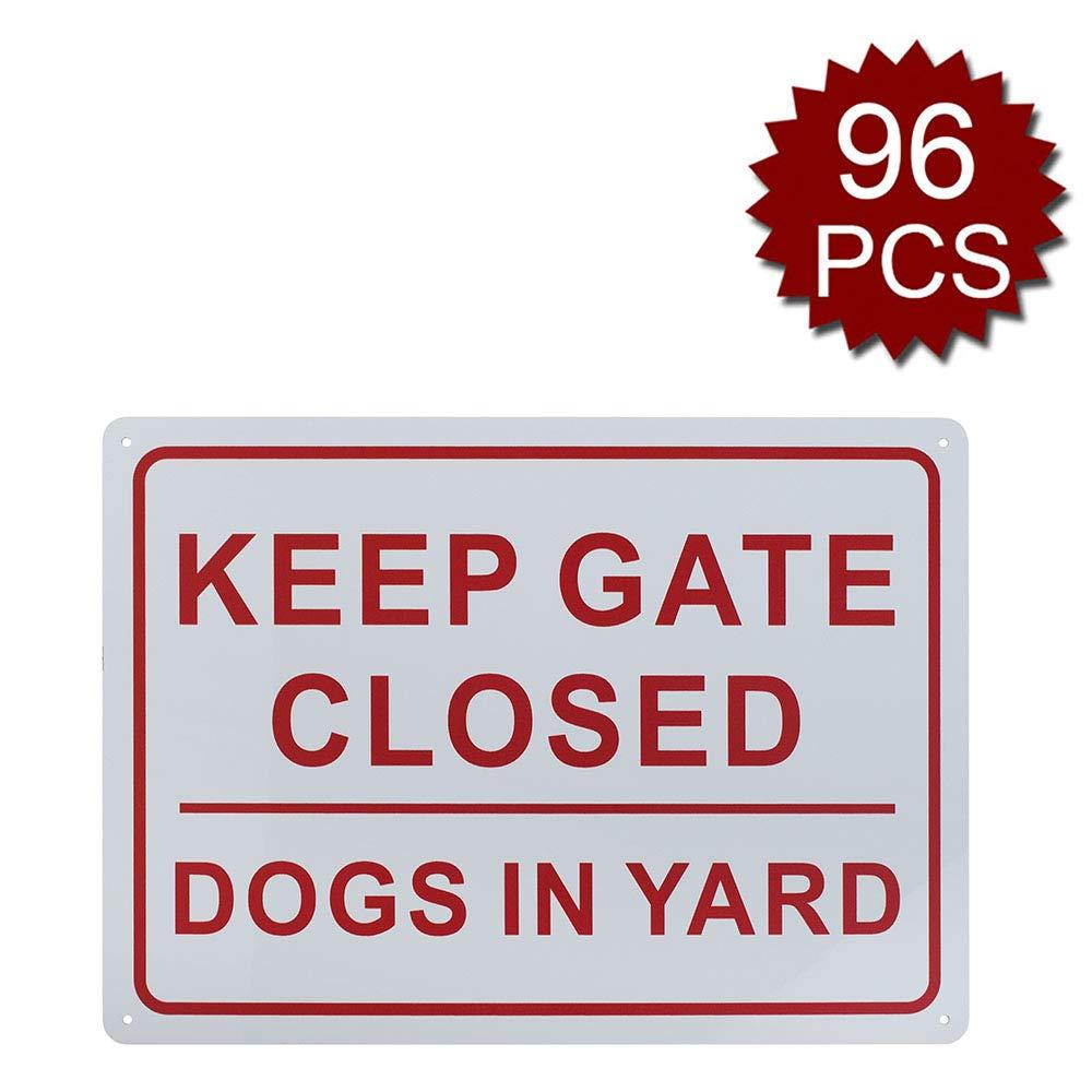Aspire Keep Gate Closed Dogs in Yard Sign, Interni ed Esterni, Keep Gate Closed 96pcs, 10  W x 14  L