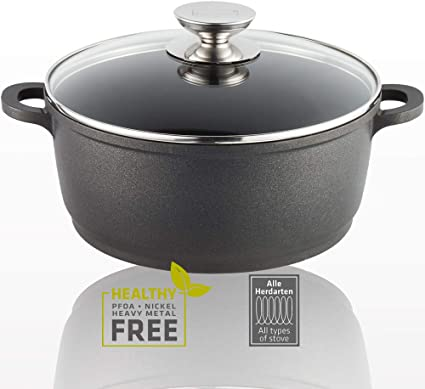 Berndes Vario Click 20 cm Induction Deep Casserole with Glass Lid