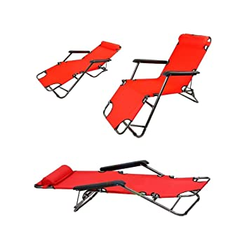 Chaise Longue transat 3 Positions Fauteuil Pliable Jardin Piscine ...