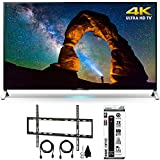 Sony XBR-65X900C - 65-inch 4K Ultra HD 3D Smart LED TV w/ Flat Wall Mount Bundle includes TV, Flat Wall Mount Ultimate Kit and 6 Outlet Power Strip with Dual USB Ports
