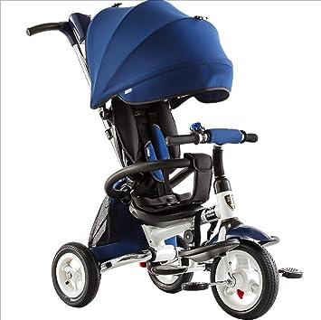 Carrito de bebé Triciclo de niños Plegable 1-3-6 años Cochecito de bebé