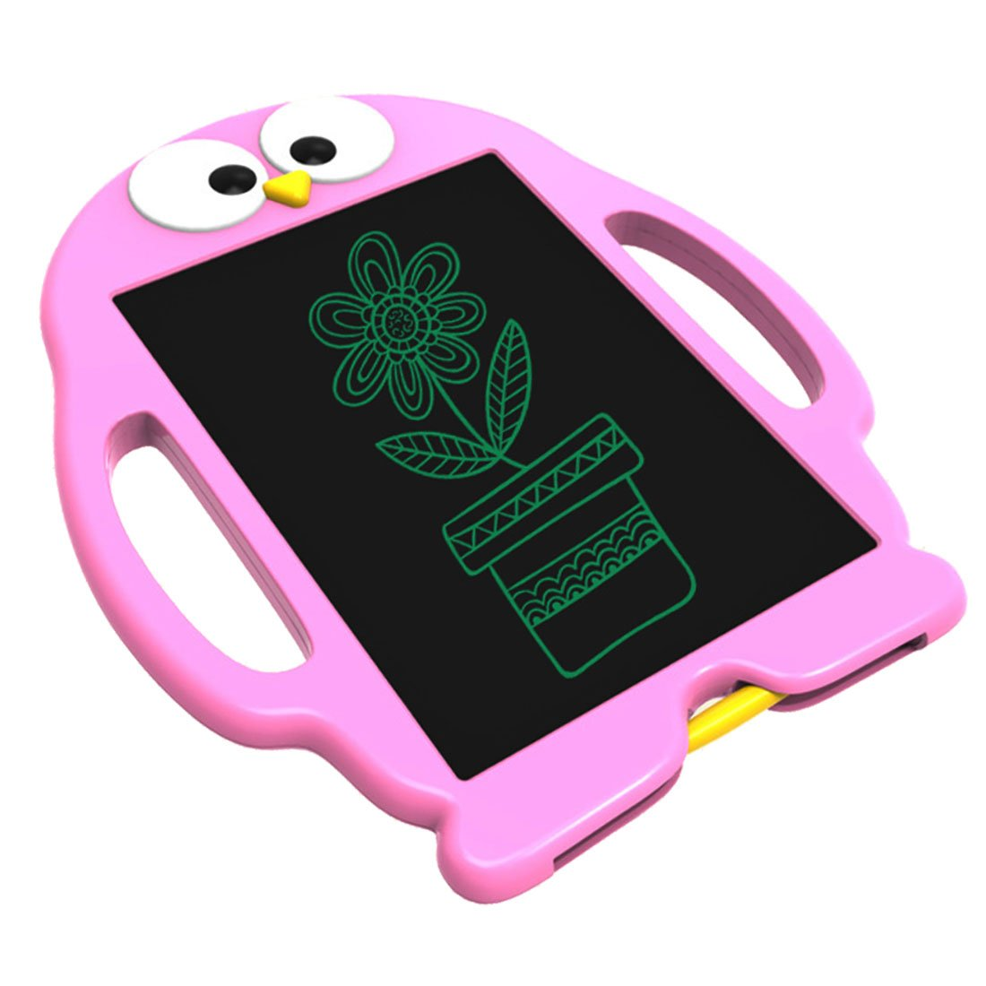 8.5 Inch LCD Writing Tablet- Electronic Eye Protect Drawing Board Graphic Painting Doodle Pad Memo Note with Stylus,Erase Button Lock Design,Gift for kids Adults in Home School Work Office (Pink)