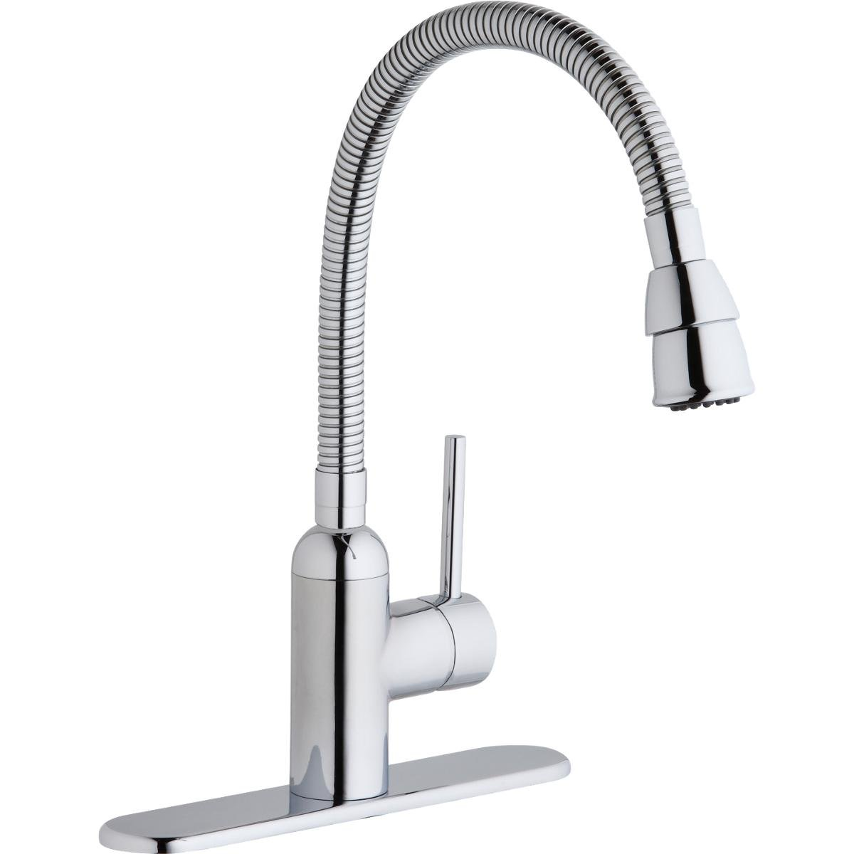Elkay LK2500CR Pursuit Chrome Single Lever Flexible Spout Laundry/Utility Faucet