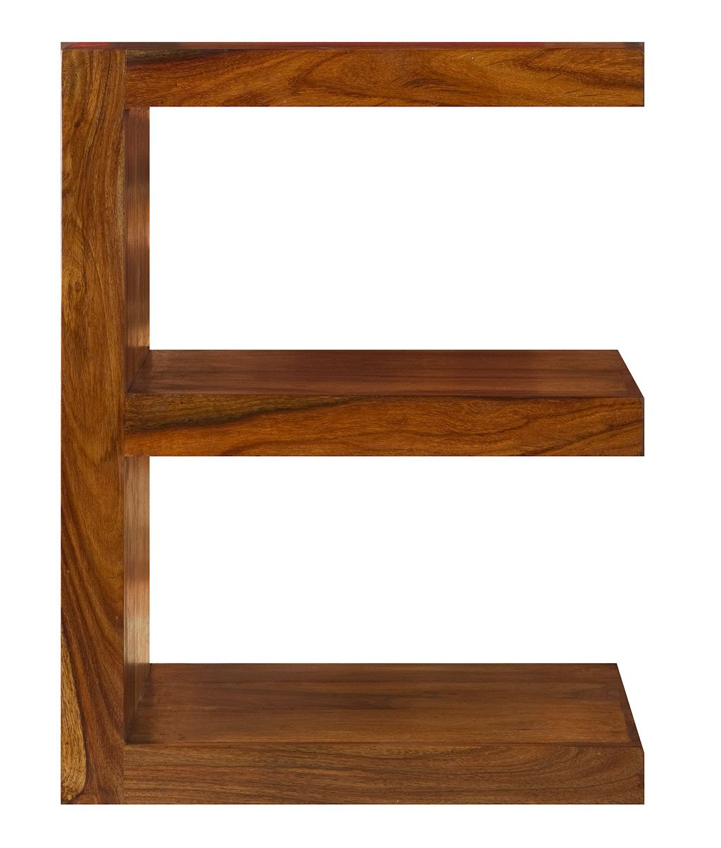 Cube indian rosewood e shaped display unit solid sheesham indian rosewood quirky table modern living room furniture amazon co uk kitchen home