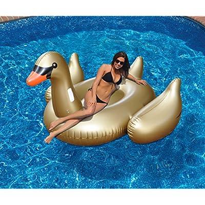 Swimline Giant Golden Goose Float: Toys & Games