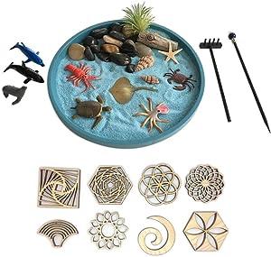 Mini Zen Garden Sea Life and Sand Stamps