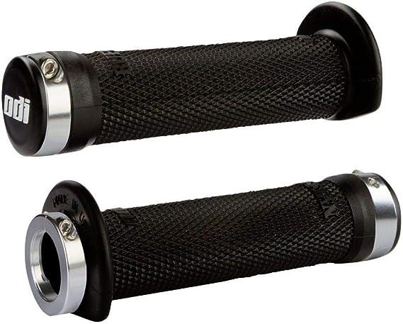 NEW ODI Ruffian lock grips Yamaha Raptor 250 350 RED with black clamps