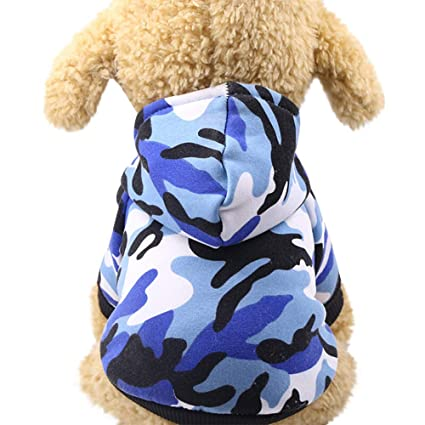 02fa184a4a55c Auwer_Pet Costume Pet Clothes, Puppy Camouflage Hoodie Sweater Dog Coat  Warm Sweatshir Cotton Pet Clothing