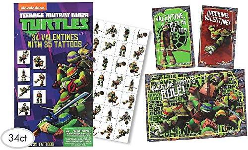 Amazon.com: Teenage Mutant Ninja Turtles Valentine Exchange ...