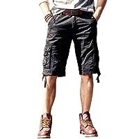 Pantaloncini cargo da uomo, diverse tasche, bermuda cargo casual per uomo, 5 colori tra cui scegliere