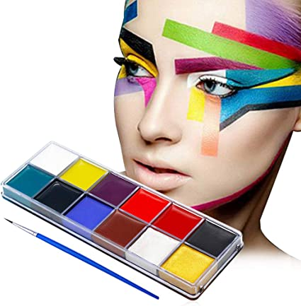 Amazon Com Face Paint Professional 12 Colors Color Mega