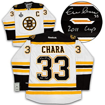 huge selection of 74b3f 2b8cd Autographed Zdeno Chara Jersey - & Inscribed 2011 Stanley ...
