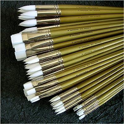 Royal & Langnickel Premier Artist Brush Collection- Bulk Pack of Snowhite Acrylic & Oil Brushes