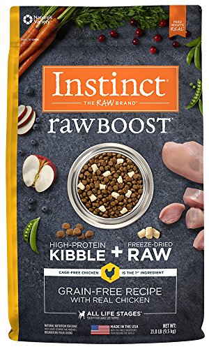 By Nature Chicken Dog Food (Instinct Raw Boost Grain Free Recipe with Real Chicken Natural Dry Dog Food by Nature's Variety, 21 lb. Bag)