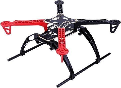 Drfeify Kit de Marco de dron RC, Kit de Marco de dron de Estructura de Fibra de Vidrio de plástico X para Drones de 4 Ejes