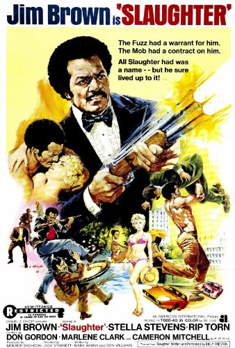 Jim Brown Slaughter >> Slaughter Poster Movie 27x40 Jim Brown Stella Stevens Rip Torn