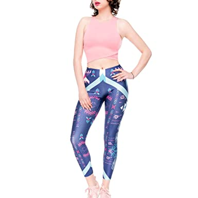 6cd197427c09f4 Amazon.com: URIBAKE ❤ Women's Workout Leggings Mid Waist Print Fitness  Sports Gym Running Yoga Athletic Pants: Clothing