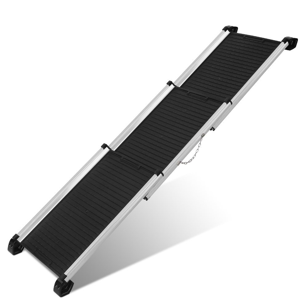 I.Pet Folable Dog Ramp Ladder Stair Step with Aluminum Frame for Travel Car Truck SUV
