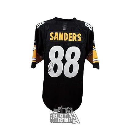 01fbece0b9d Signed Emmanuel Sanders Jersey - Black COA - JSA Certified - Autographed  NFL Jerseys at Amazon s Sports Collectibles Store