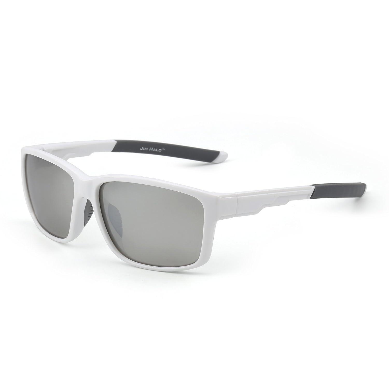 Gafas de Sol Deporte Polarizadas Espejo Wrap Around Conducir Pesca Hombre Mujer(Blanco/Plateado): Amazon.es: Ropa y accesorios