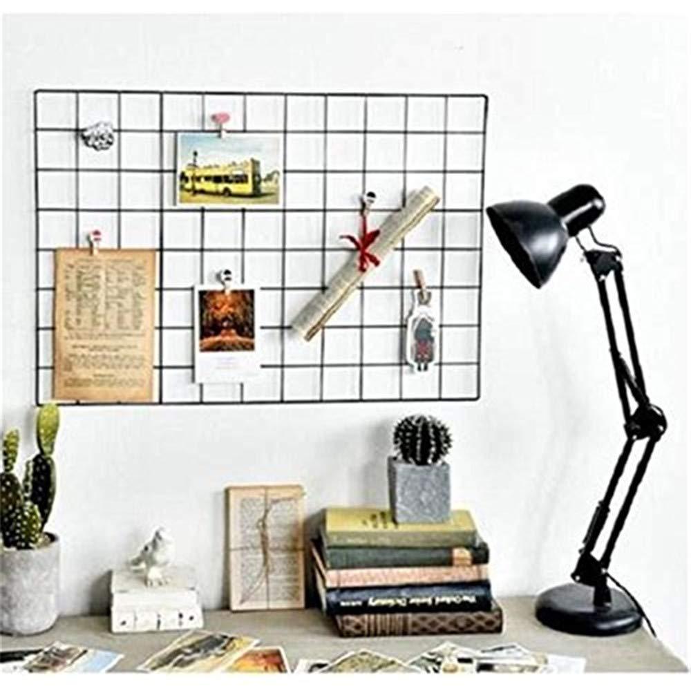 la rejilla de hierro DIY de la foto la foto en el tablero de notas que cuelga en la familia Actualice el estante de la rejilla de la pared 40 * 80 cm el pizarr/ón la decoraci/ón de la pared blanco