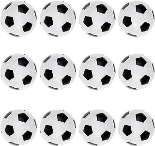 F Fityle 12 Ballons De Football De Baby-Foot De Table De Jeu De Soccer/Baby-Foot, Noir/Blanc