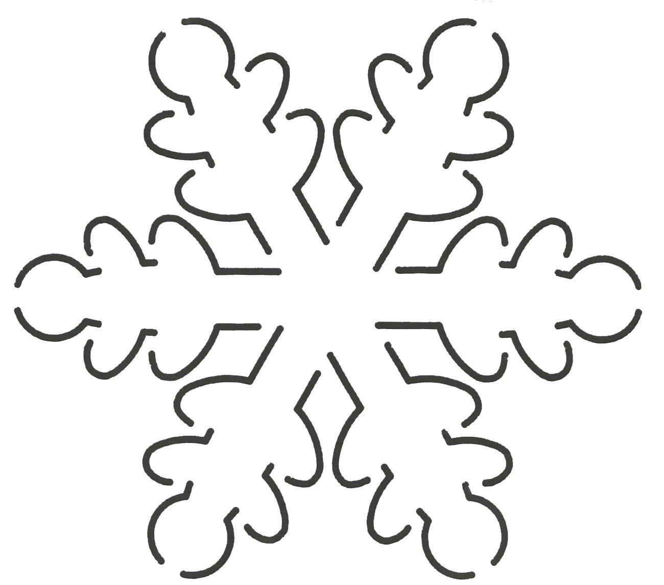 Quilting Creations EL2QC Snowflake Quilt Stencil, 5 x 5-1/2 5 x 5-1/2