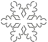 Quilting Creations Snowflake Quilt Stencil, 5 x