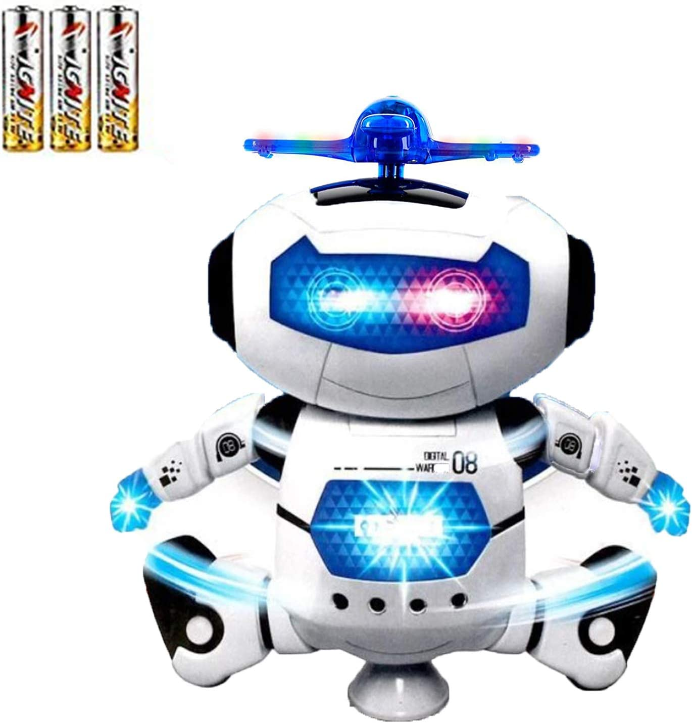 Musical Dancing Robot Toys W//Light For Boys Kids Toddler Birthday Xmas Gift Boy