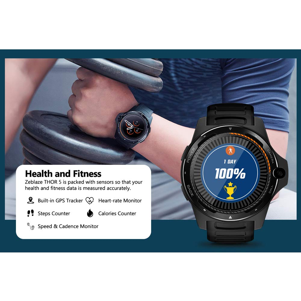 ZMCY Zeblaze Thor 5 Reloj Inteligente, Sistema Dual para Hombres ...