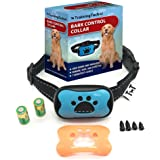 No Bark Collar for Bark Control, NO SHOCK Humane Anti Bark Collar Stop Bark Training System with 7 Levels Adjustable Sensitivity Control