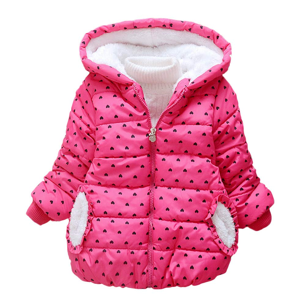 Winter Girls Coat,Finesr Fashion Kids Toddler Baby Girl Hooded Coat Cloak Jacket Thick Warm Outerwear Clothes 2 Colors