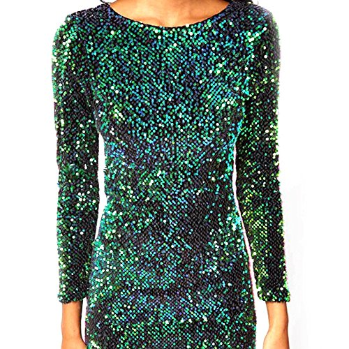 Gonne Sexy Samber With Paillettes Dresses Party Night Fashion Women For Green qAFw8xqH