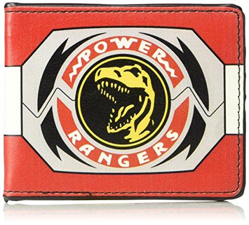 Mighty Morphin Power Rangers Ninja Costume (Buckle-Down Men's Wallet Power Rangers Red Ranger Tyrannosaurus Rex Morpher Accessory, -Multi, One Size)