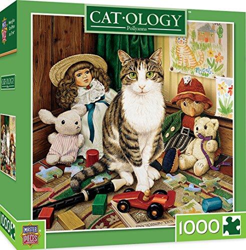 MasterPiece Cat-ology Pollyanna - Toy Cat 1000 Piece Jigsaw Puzzle by Geoffrey Tristram
