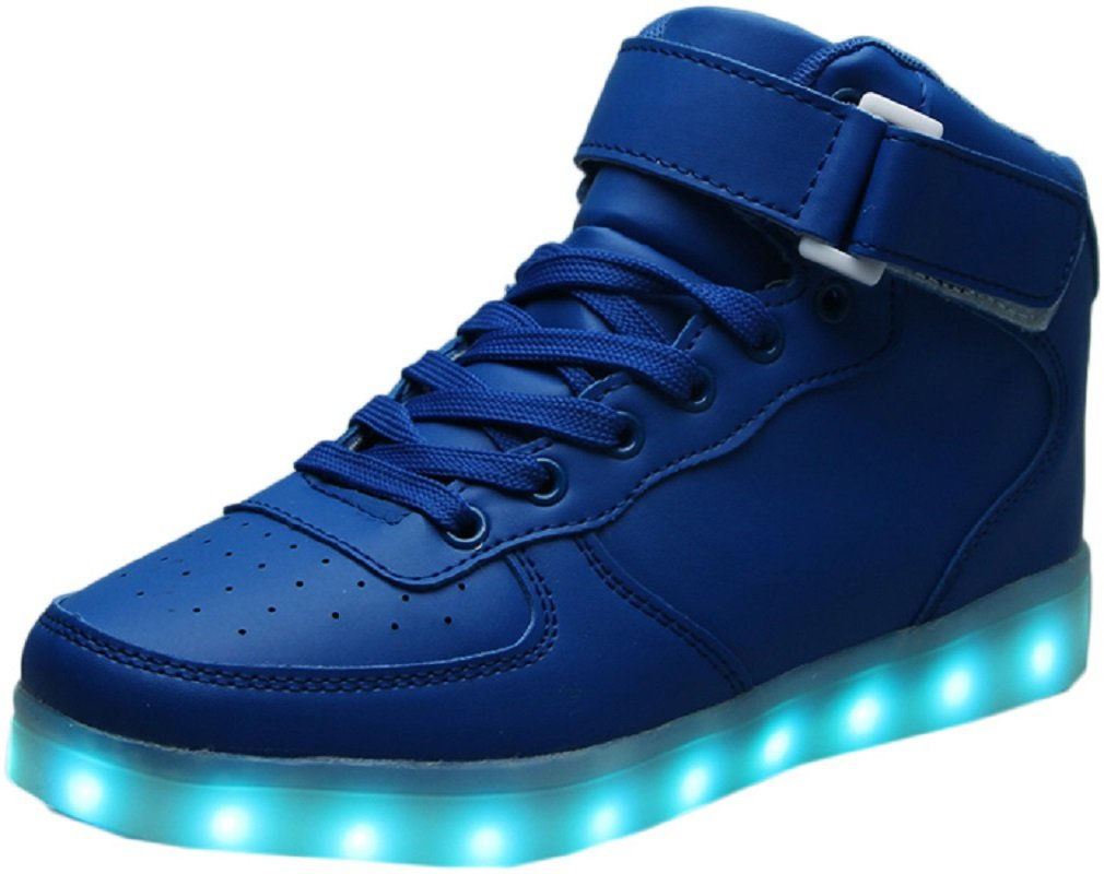 f8fae8cc081c Galleon - LED Light Up Hi-Top Shoes 11 Color Patterns