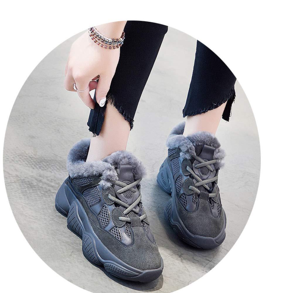 scarpe 2018 Autunno e Inverno Maokou Testa rossoonda di Spessore con Scarpe Casual Rosse Super Fuoco Netto,Carbone,37