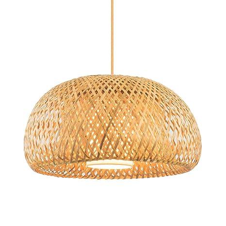 Lámpara de araña de bambú ajustable para jaula de pájaros Lámpara ...