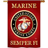 """Marine Corps Indoor/ Outdoor Sublimation Flag 28"""" X 40"""" 08057"""