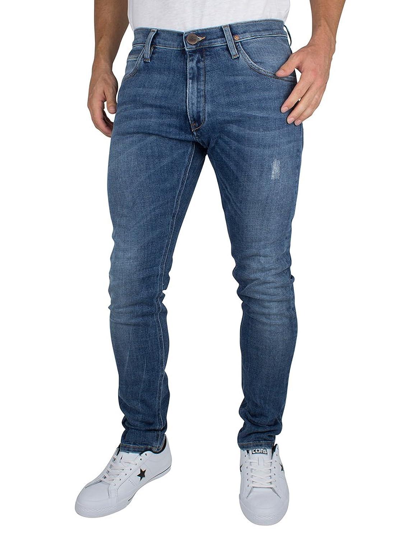 Vivienne Westwood Herren Drainpipe Orb Logo Denim Jeans, Blau