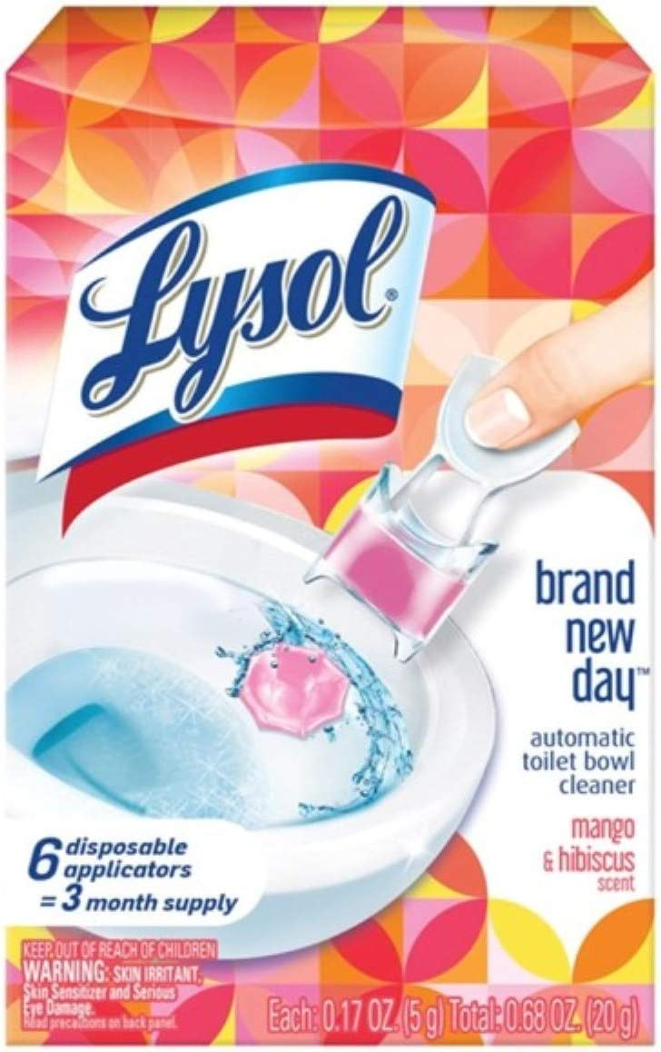 Lysol Lysol Automatic Toilet Bowl Cleaner, Click Gel, Mango & Hibiscus, 6 Count