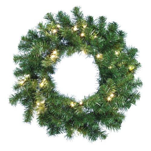 Kurt Adler Battery-Operated Douglas Fir Wreath with 30 Lights, 24-Inch by Kurt Adler (Image #1)