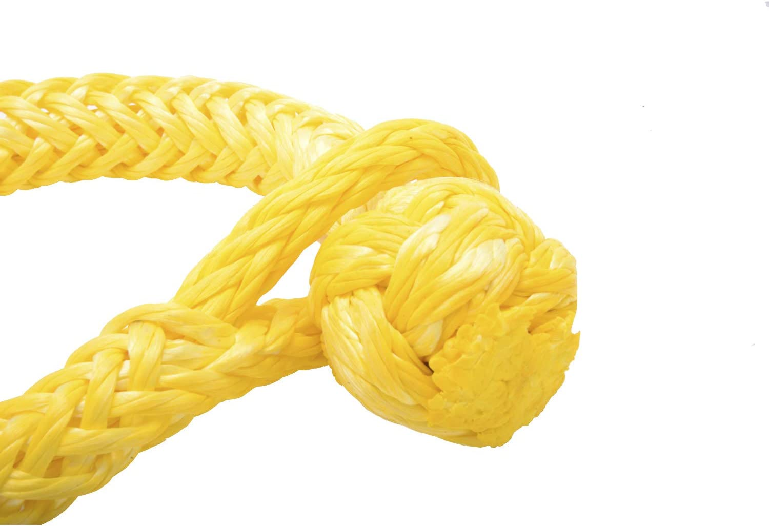 Green NovelBee 2 Pack of Soft Shackles,UHWMPE 12 Strand Synthetic Rope,Inner core Dia:14mm;Bow Width:150mm