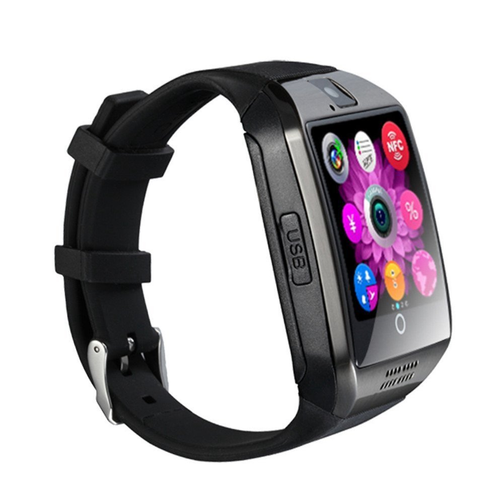 Dohomai 2016 Newest Q18 Smart Watch Bluetooth Smartwatch Phone with Camera TF/SIM Card Slot for Android Samsung Galaxy S7,S6,S5,Note 5,HTC,SONY,LG,Huawei,Google Nexus (black)